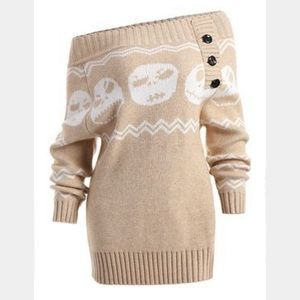 Nightmare Before Christmas Off Shoulder Sweater